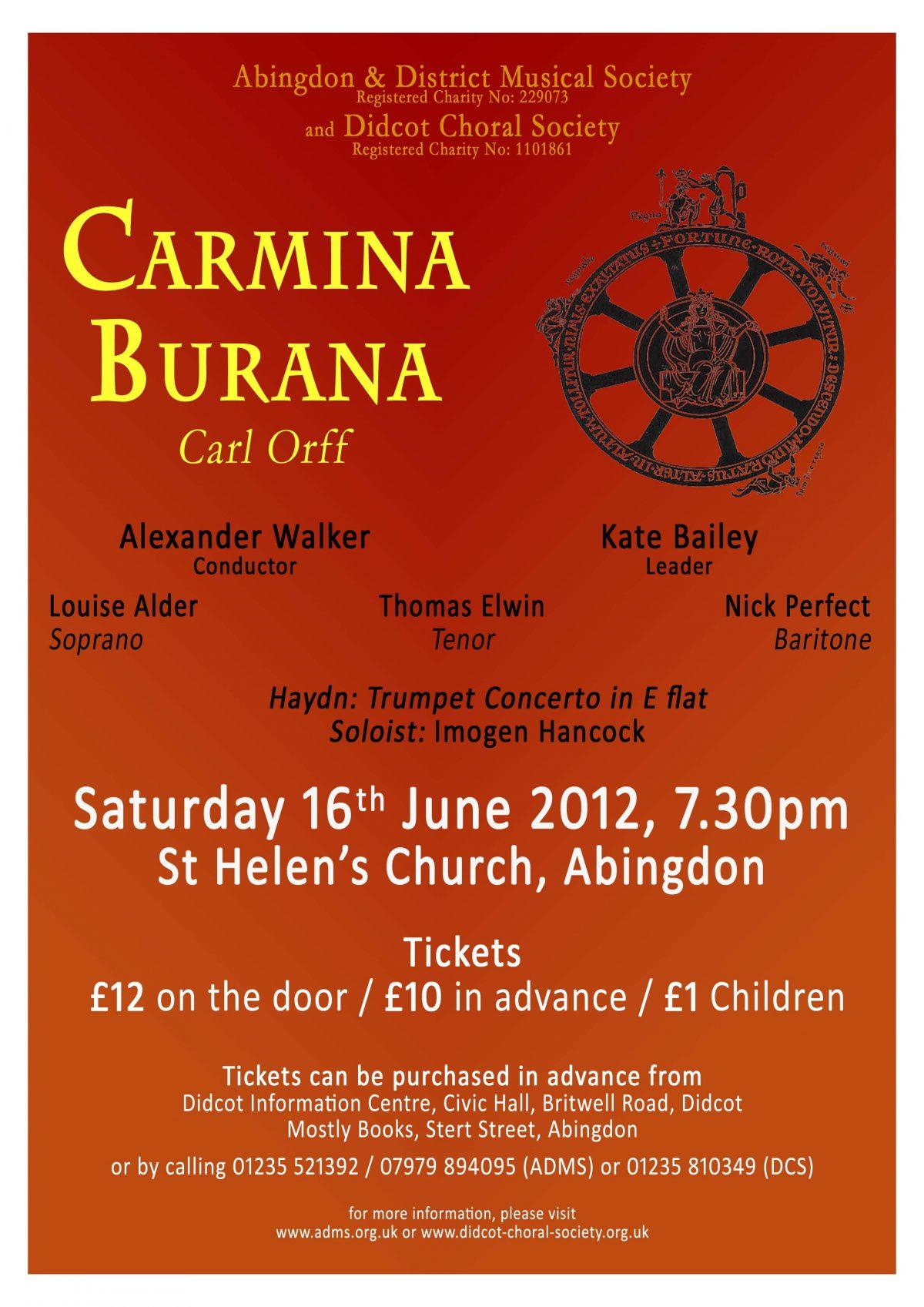 Carmina Burana June 2012